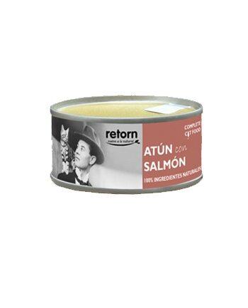 Lata Retorn para gatos: Atún + Salmón