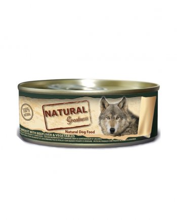 Natural Greatness Pollo, Hígado de Buey y Verduras: para Perros
