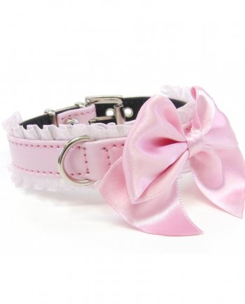 Collar Pink Bow