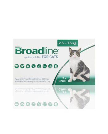 Pipetas para Gatos Broadline 2,5 a 7,5kg