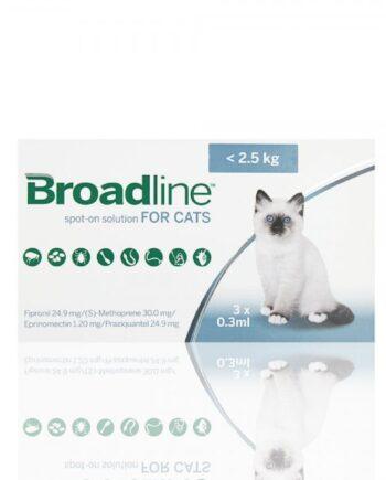 Pipetas Broadline para Gatos < 2,5kg