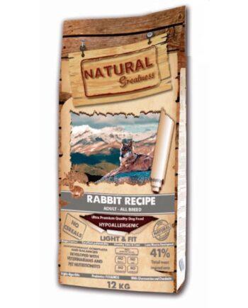 Natural Greatness Receta Conejo Light & Fit: sin cereales