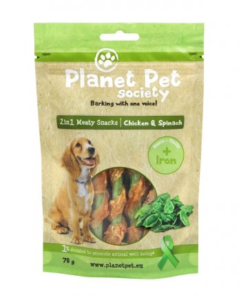 Planet Pet Snacks Espinacas y Pollo