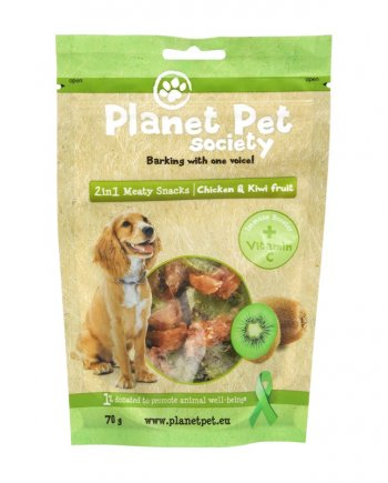 Planet Pet Snacks Kiwi y Pollo