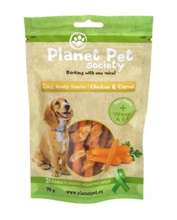 Planet Pet Snacks Zanahoria y Pollo: sin cereales