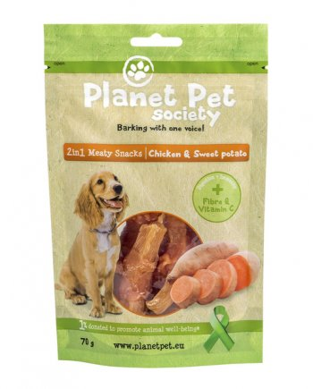 Planet Pet Snacks Batata y Pollo: sin cereales