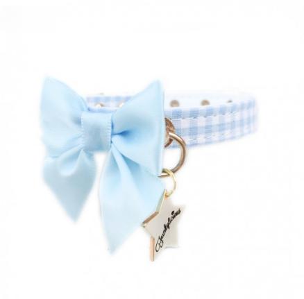 Collar Funkylicious Vichy Bow Azul