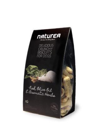 Galletas Artesanas Naturea: Pescado, aceite de oliva y hierbas aromáticas