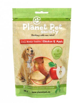 Planet Pet Snacks Manzana y Pollo: sin cereales