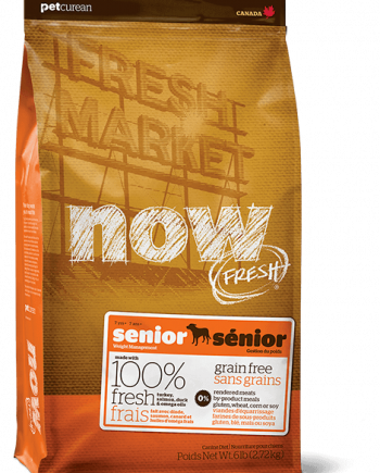 Petcurean Now Senior: Sin cereales