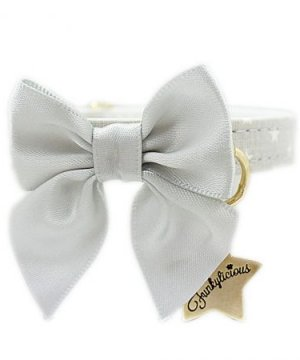Collar Funkylicious Cute Bow Gris