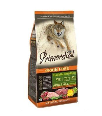 Primordial Adult Ciervo y Pavo: sin cereales