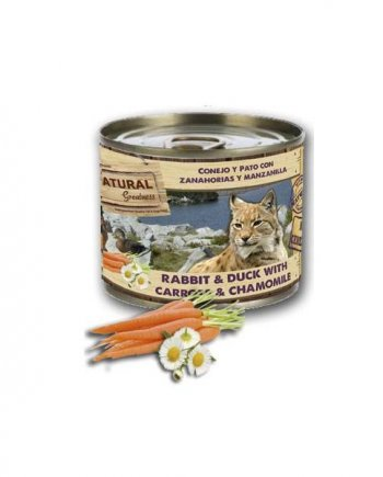 Natural Greatness Conejo y pato con zanahoria y manzanilla