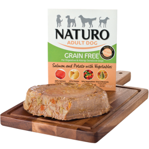 Naturo Salmón comida húmeda para perros
