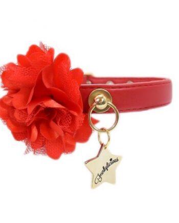 Collar Funkylicious Flower Rojo