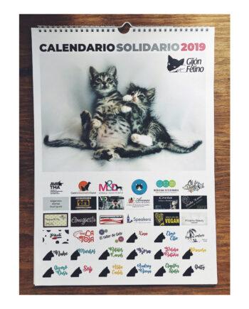 Calendario Solidario Gijón Felino 2019