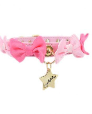 Collar Funkylicious Candy Bow Rosa