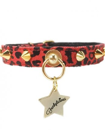 Collar Funkylicious Punk Leopardo Rojo