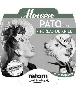 Mousse Retorn Pato con Perlas de Krill