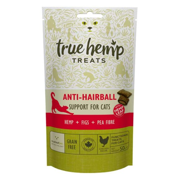 True Hemp Premios Anti-Hairball Para Gatos