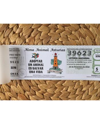 Lotería de Navidad Solidaria Alma Animal Asturias