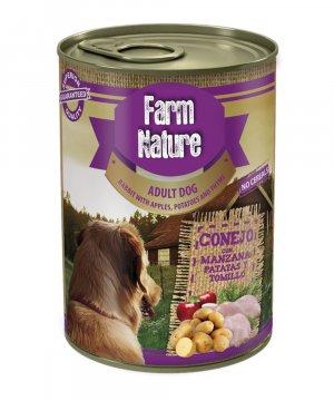 Farm Nature Conejo con Manzana para perros (400gr)