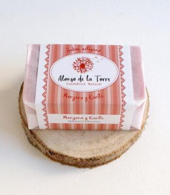 Jabón artesano natural de Manzana Roja y Karité