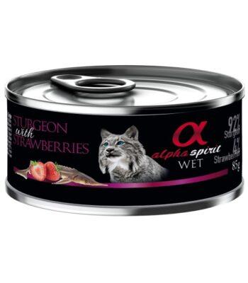 Alpha Spirit Esturión con Fresas para Gatos
