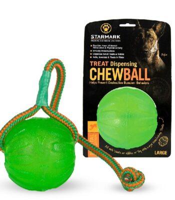 Pelota con cuerda Starmark Chew Swing & Fling