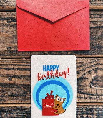 Tarjeta de Felicitación de Cumpleaños para Perros