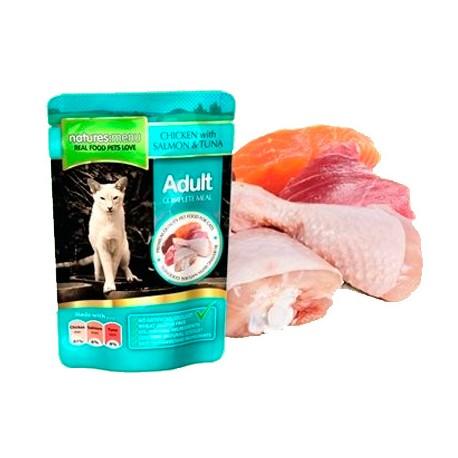 Natures Menu Pouch Salmón, Atún y Pollo para Gatos