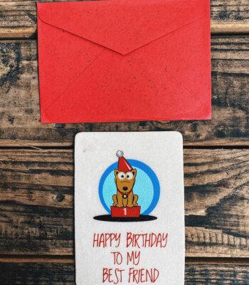 Tarjeta de Cumpleaños Mejor Amigo Comestible para Perros