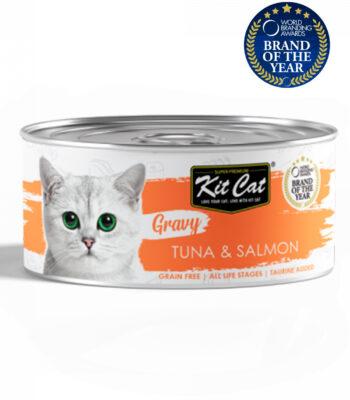 Kit Cat Lata Atún con Salmón en salsa