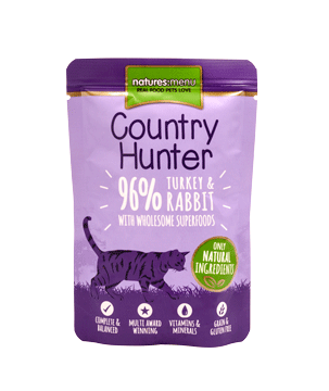 Natures Menu Country Hunter Pouch Pavo y Conejo