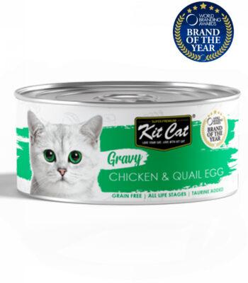 Kit Cat Lata Pollo con Huevo de Codorniz en salsa