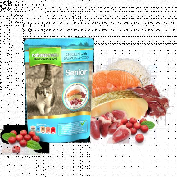 Natures Menu Pouch Pollo, Bacalao y Salmón para Gatos