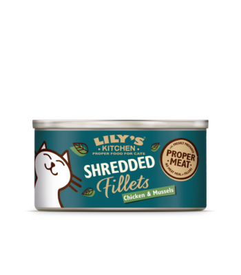 Lily´s Kitchen Pollo y Mejillones Shredded Fillets